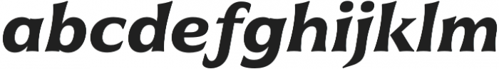 Civane Ext Bold Italic otf (700) Font LOWERCASE