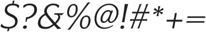 Civane Ext Light Italic otf (300) Font OTHER CHARS