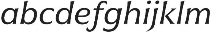 Civane Ext Regular Italic otf (400) Font LOWERCASE