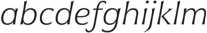 Civane Ext Thin Italic otf (100) Font LOWERCASE