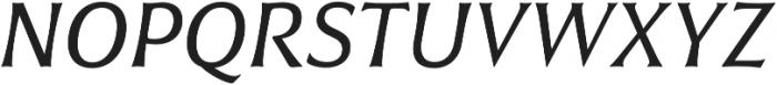 Civane Norm Regular Italic otf (400) Font UPPERCASE