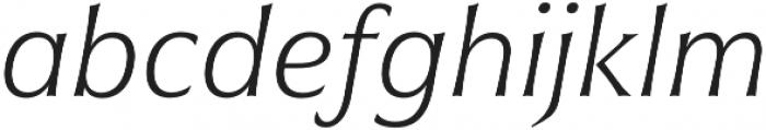 Civane Norm Thin Italic otf (100) Font LOWERCASE