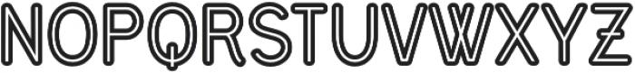 Civic Sans Balloon Inline ExtraBold otf (700) Font UPPERCASE