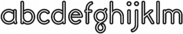 Civic Sans Balloon Inline ExtraBold otf (700) Font LOWERCASE