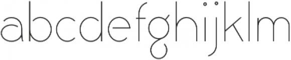 Civic Sans ExtraLight otf (200) Font LOWERCASE