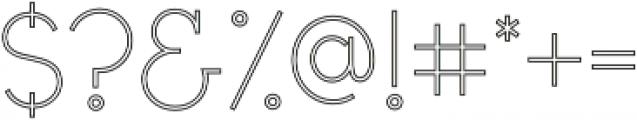 Civic Sans Outline Light otf (300) Font OTHER CHARS
