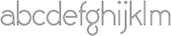 Civic Sans Outline Light otf (300) Font LOWERCASE
