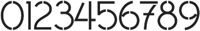 Civic Sans Stencil Medium otf (500) Font OTHER CHARS