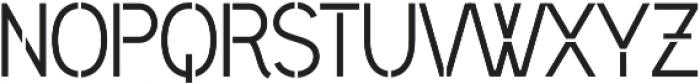 Civic Sans Stencil Medium otf (500) Font UPPERCASE