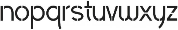 Civic Sans Stencil Medium otf (500) Font LOWERCASE