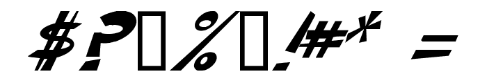 CIRCLINE Italic Font OTHER CHARS
