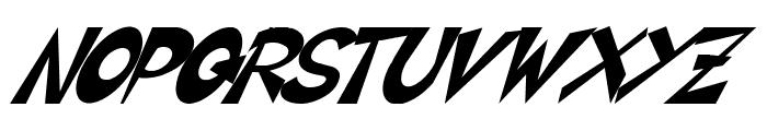 CIRCLINE Italic Font UPPERCASE