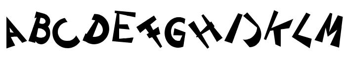 CIRCLINEcrazyjumped Bold Font UPPERCASE