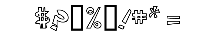 CIRCLINEcrazyjumped  outline Font OTHER CHARS