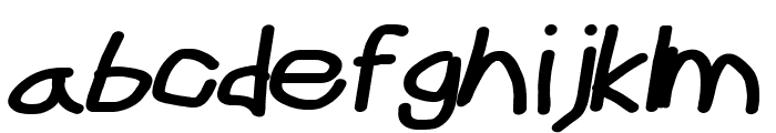 CiSf OpenHand Black Extended Oblique Font LOWERCASE