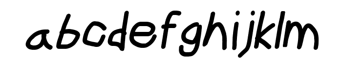 CiSf OpenHand Black Oblique Font LOWERCASE