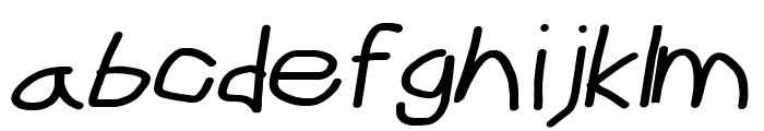 CiSf OpenHand Bold Extended Oblique Font LOWERCASE