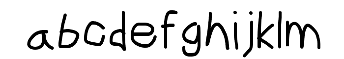 CiSf OpenHand Bold Font LOWERCASE
