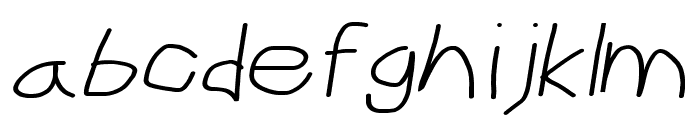 CiSf OpenHand Extended Oblique Font LOWERCASE