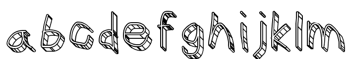 CiSf OpenHand Glass Font LOWERCASE