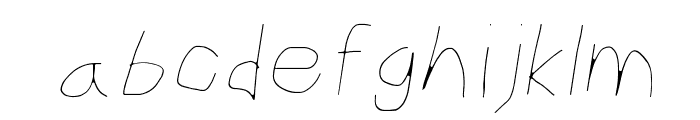 CiSf OpenHand Hairline Oblique Font LOWERCASE