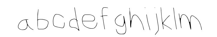 CiSf OpenHand Hairline OppositeOblique Font LOWERCASE