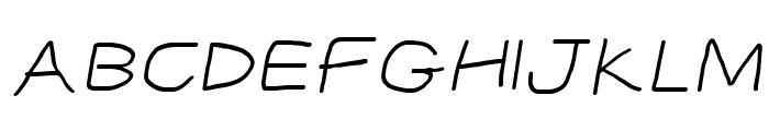 CiSf OpenHandSquished Oblique Font UPPERCASE