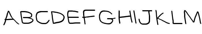 CiSf OpenHandSquished OppositeOblique Font UPPERCASE