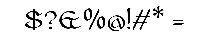 Cianan-ur Regular Font OTHER CHARS