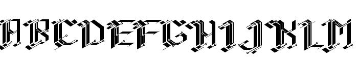 CiberGotica Font UPPERCASE