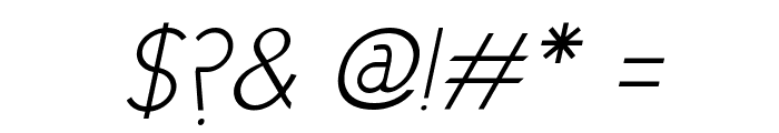 Cicle Fina Italic Font OTHER CHARS