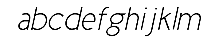 Cicle Fina Italic Font LOWERCASE