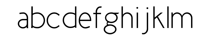 Cicle Fina Font LOWERCASE