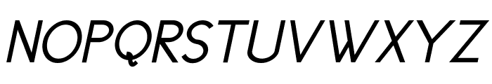 Cicle Gordita Italic Font UPPERCASE