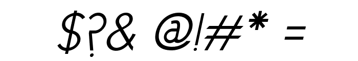 Cicle Semi Italic Font OTHER CHARS