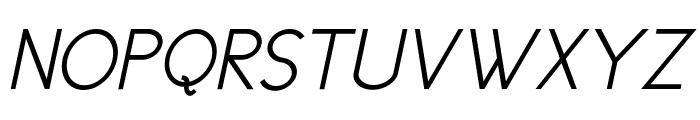 Cicle Semi Italic Font UPPERCASE