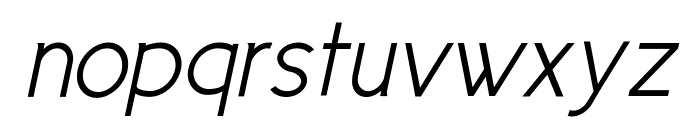 Cicle Semi Italic Font LOWERCASE