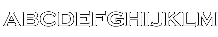 Cimier Hollow Font LOWERCASE