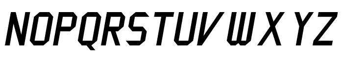 Cinema Gothic NBP Italic Font UPPERCASE