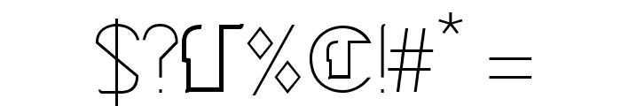 Cinga Light Font OTHER CHARS