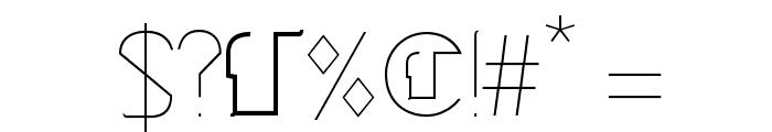 Cinga UltraLight Font OTHER CHARS