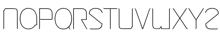 Cinga UltraLight Font UPPERCASE