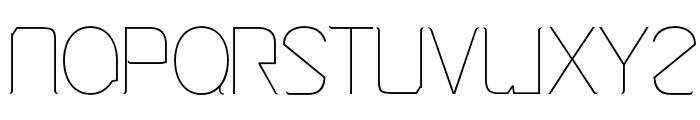 Cinga UltraLight Font LOWERCASE