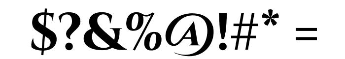 Cinzel-Bold Font OTHER CHARS