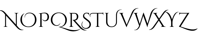 CinzelDecorative-Regular Font UPPERCASE