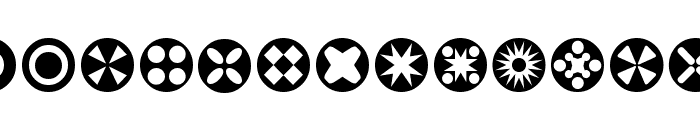 Circle Things Font UPPERCASE