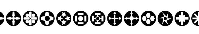 Circle Things Font LOWERCASE