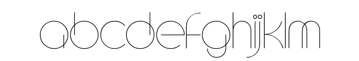 CircleD Font UPPERCASE