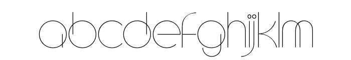 CircleD Font LOWERCASE