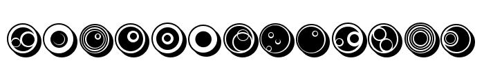 Circles Regular Font UPPERCASE